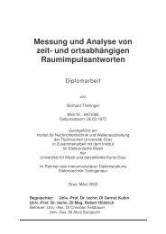 Diplomarbeit - Institut für Elektronische Musik und Akustik - IEM ...