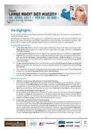 Die Highlights. - Eichbaum