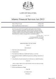 Islamic Financial Services Act 2013 - Bank Negara Malaysia