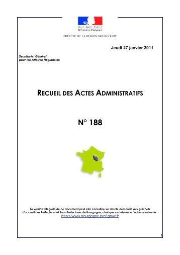 RAA 188 - Préfecture de la Côte-d'Or