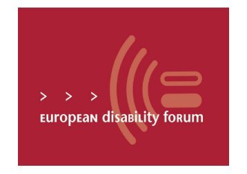 Presentation Maria Nyman, European Disability Forum - ENAT ...