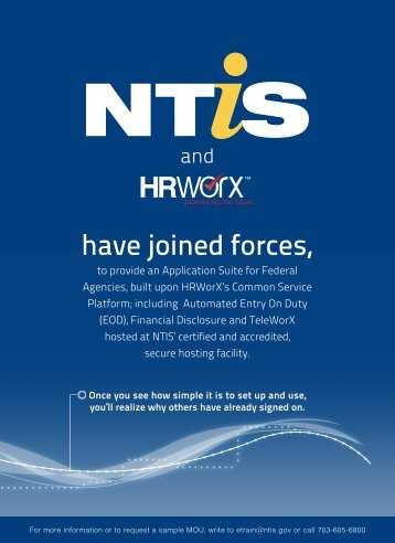 have joined forces, - National Technical Information Service