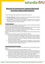 Manuale di manutenzione cappotto Naturawall-mod - Naturalia Bau
