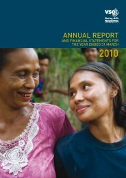 Annual Report and Financial Statement 2009-10 - VSO
