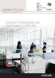 Höchste Produktivität und Vielseitigkeit für DIN-A3- Druck - Lexmark