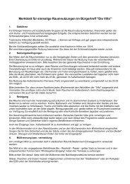 Merkblatt für einmalige Raumnutzungen im Bürgertreff 2012 - Die Villa