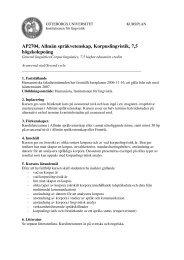 AP2704, Allmän språkvetenskap, Korpuslingvistik, 7,5 högskolepoäng
