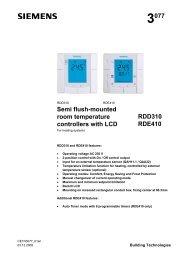 3077 Semi flush-mounted room temperature ... - siemensbolt.hu