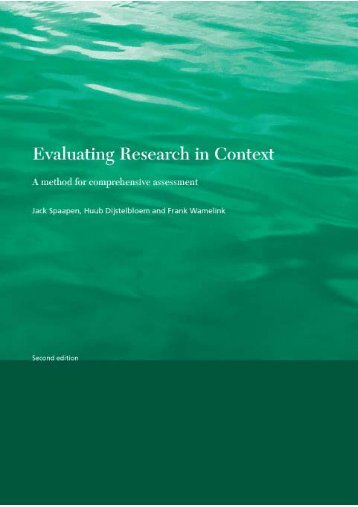 Evaluating Research in Context. A Method for Comprehensive