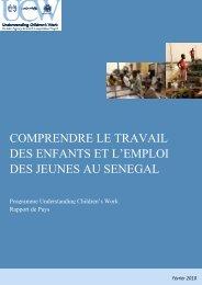 Comprendre le travail des enfants et l'emploi des jeunes au Sénégal