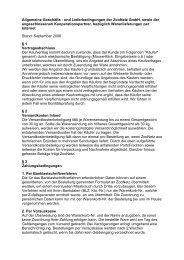 Allgemeine Geschäfts - und Lieferbedingungen der ZooNetz GmbH ...