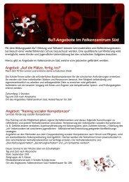 BuT-Angebote im Falkenzentrum Süd - Falken Essen
