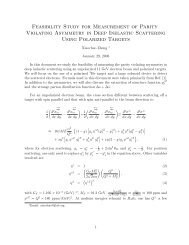 Feasibility Study for Measurement of Parity Violating Asymmetry in ...