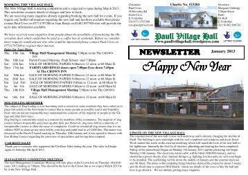 Paull Village Hall -January 2013 - HU12 Online