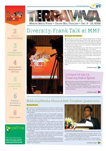 Diversity, Frank Talk at MMF - IPS Inter Press Service