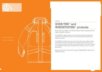 GORE-TEX® and WindsTOppER® products