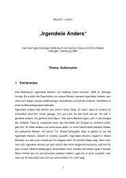 """""""Irgendwie Anders"""" - Schulen in Oberfranken"""