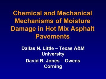 Chemical and Mechanical Mechanisms of Moisture Damage in Hot ...