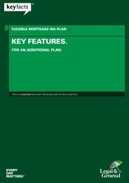 Flexible Mortgage ISA Plan Key Features For An ... - Legal & General