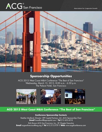 Sponsorship Prospectus pdf - Association for Corporate Growth