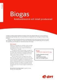 Biogas - koldioxidneutral och lokalt producerad - E-on