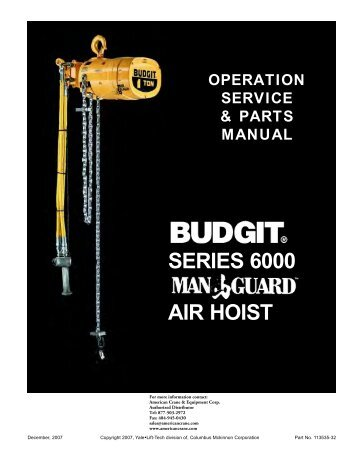 budgit 6000 manguard air hoist manual products on american ?quality\\\=85 2 sd crane pendant wiring diagram crane pendant cable, overhead  at eliteediting.co