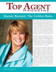 Marnie Bennett: The Golden Rules - Top Agent Magazine