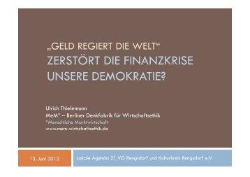 zerstört die finanzkrise unsere demokratie? - MeM Denkfabrik