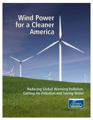 Report – Wind Power for a Cleaner America - Frontier Group