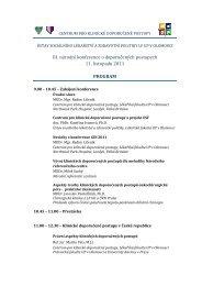 III. národní konference o doporučených postupech 11. listopadu ... - LF