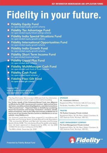 Fidelity Combined KIM - Fundsupermart.com