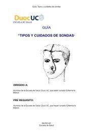 """GUÍA """"TIPOS Y CUIDADOS DE SONDAS"""" - Biblioteca - Duoc UC"""