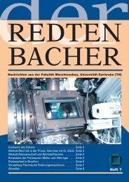 Heft 7 - Fakultät für Maschinenbau