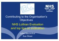 Contributing to the delivery of the organisations objectives - Quality ...