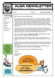 12 Term 1, Week 11 - 2013 Week 15 [pdf, 1 MB] - Alma Public School