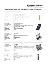 demomodeller og udgåede varer - Ekkomarine Medico A/S
