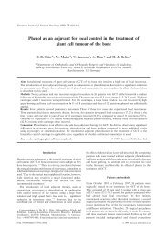 Phenol as an adjuvant for local control in the treatment of giant cell ...