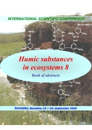 Humic substances in ecosystems 8