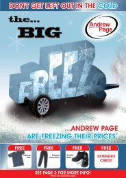 andrew page are freezing their prices