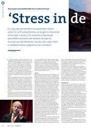 Stress in de supply chain - EVO