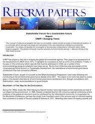 UNEP - Stakeholder Forum