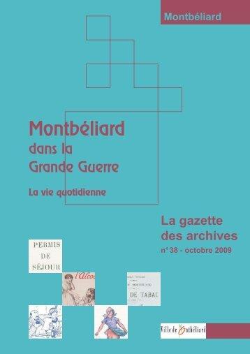 Gazette n°38 - Montbéliard