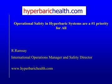 Operational Safety in Hyperbaric System
