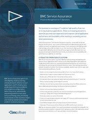BMC Service Assurance Overview - DANU Technologies