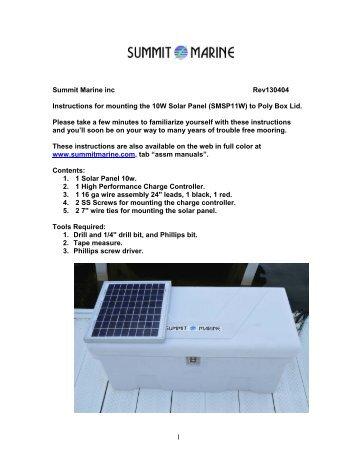 solar panel mount to dock box