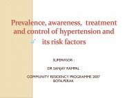 Prevalence, awareness, treatment and control of hypertension and ...