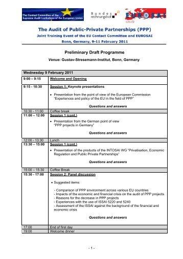 Preliminary Draft Programme