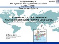 hyperbaric oxygen therapy in acute sensorineural hearing loss