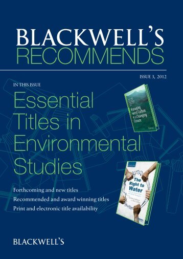 Forthcoming and new titles Recommended and award ... - Blackwell's