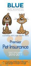 Premier Policy - Blue Insurances